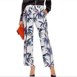 Emilio Pucci Silky Tropical Palm Print Pants